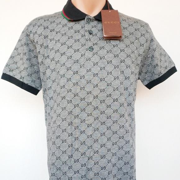 fff08dd69 Gucci Shirts | Polo Shirt Gray Size Xl Men Women Cotton | Poshmark